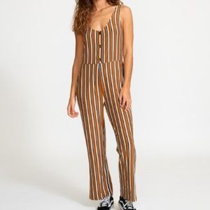 RVCA CARLTON STRIPED JUMPSUIT